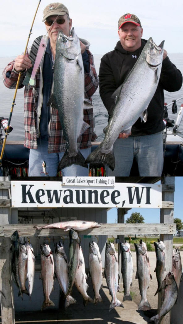 6 29 12 a few days ago on 6 26 for Kewaunee fishing report