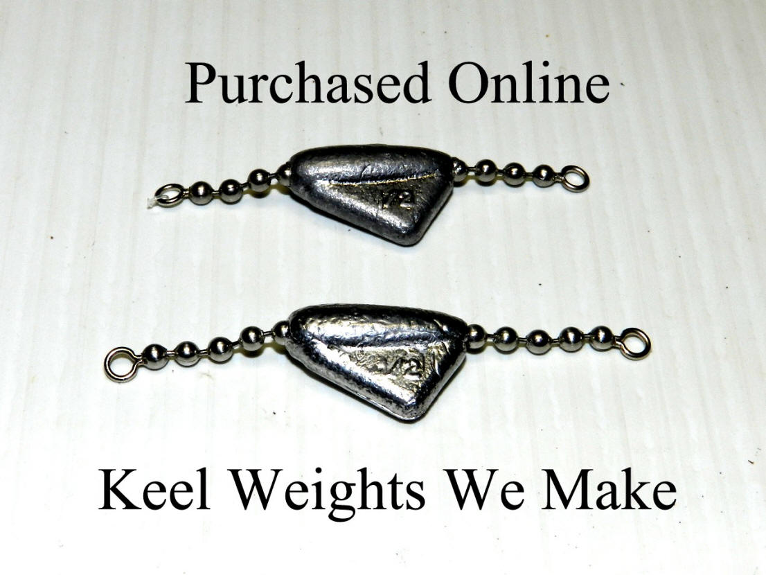 Bead Tackle    Keel Sinker  With Chain   1//4 oz   Black Gold
