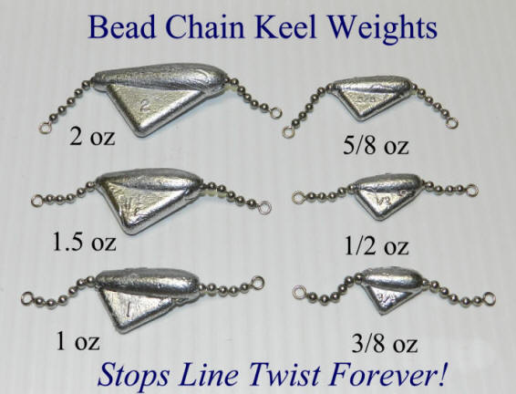 Bead Chain Keel Weights