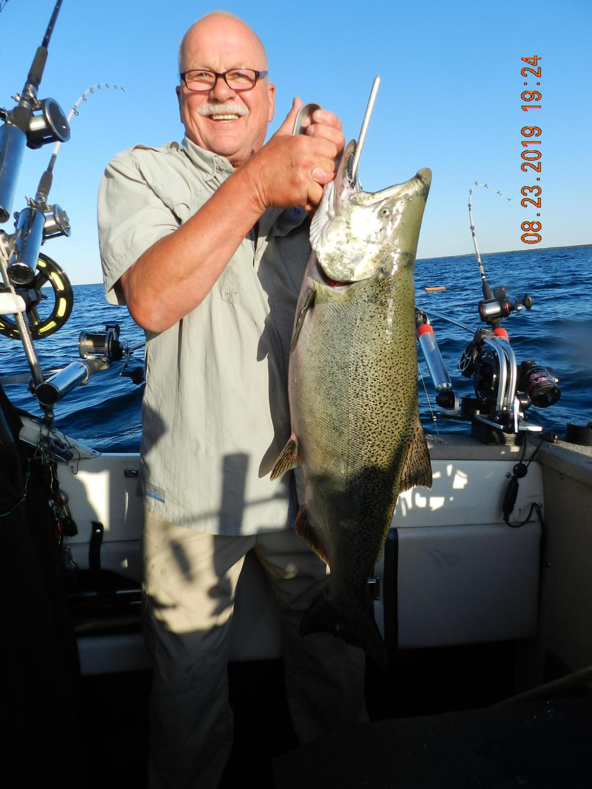 Manistee, Lake Michigan Salmon tackle and Salmon Buster